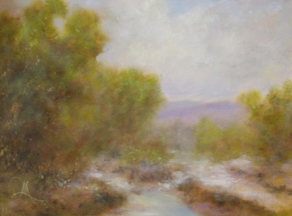Among Stream and Hills - Corporate - Landscape Art