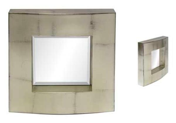 Silver Block Mirror - Wall Sculpture  -