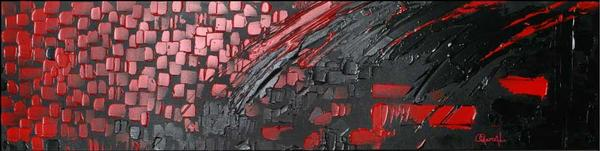 Envolee Rouge - Hospitality  - Abstract Art