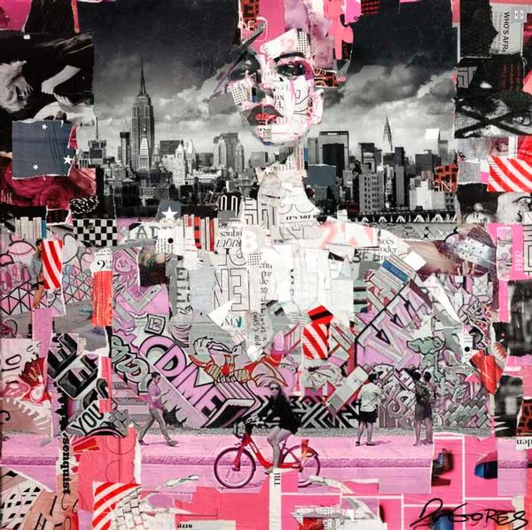 Full Volume Pink Graffiti - Hospitality - Abstract Art