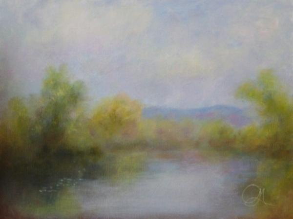 Still Morning Pond - Hospitality - Landscape Art