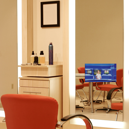 Diamond Lighted Mirror with TV